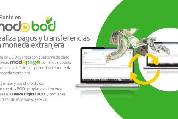 BOD lanza sistema de pagos y transferencias en moneda extranjera