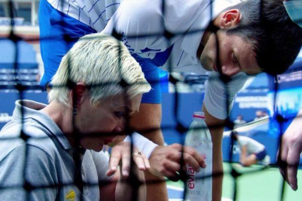 Djokovic pide «apoyo» a la jueza de línea: «no ha hecho nada malo en absoluto»