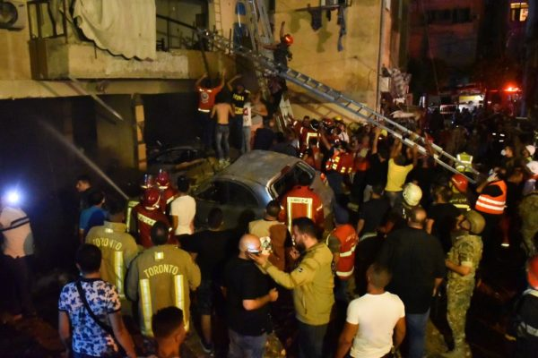 Cuatro muertos en Beirut en incendio y explosión de tanque de combustible