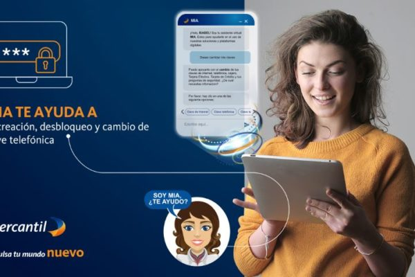Asistente virtual de Mercantil agrega nuevas funcionalidades para clave telefónica