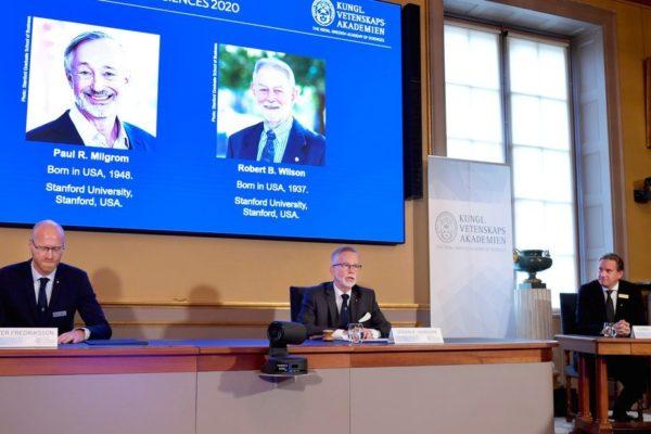 Estadounidenses Paul Milgrom y Robert Wilson ganan el Premio Nobel de Economía