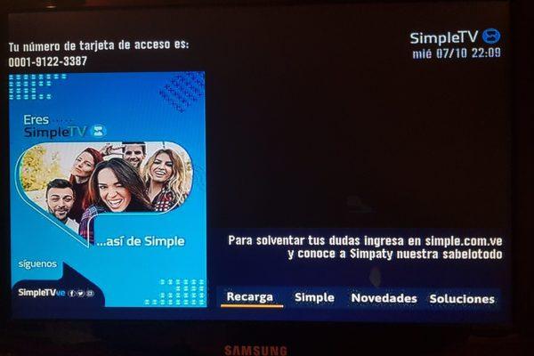 Aseguran que Conatel no aprobó la primera propuesta de precios de SimpleTV