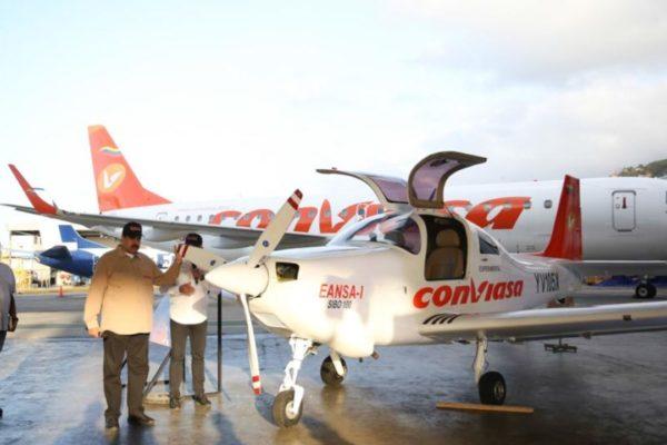 «Prueba superada»: Conviasa exhibe la primera aeronave fabricada en Venezuela