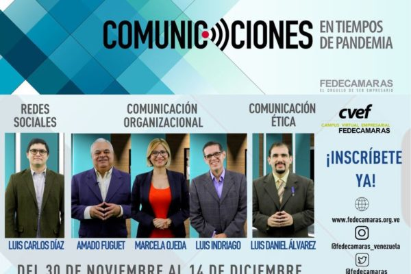"""Fedecámaras desarrolla curso en línea """"Comunicaciones en tiempos de pandemia"""""""