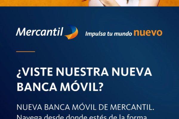 Está disponible nueva versión de la aplicación Mercantil Móvil Personas