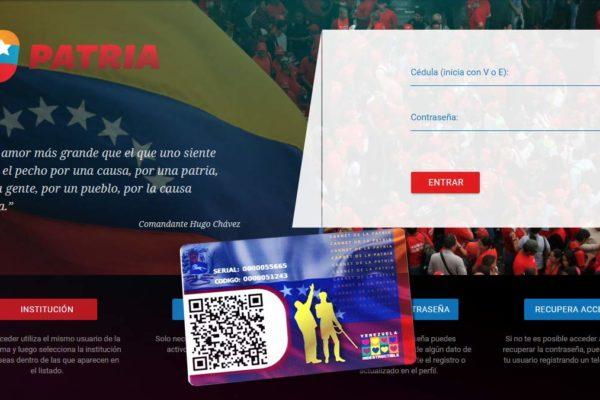 Sistema Patria implementará comisión de servicio de 0,1% en monederos de criptoactivos
