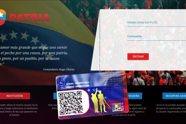 Gobierno inicia entrega del bono 'Navidades felices y seguras' a través de la plataforma Patria