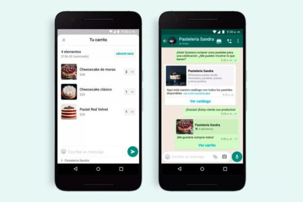 WhatsApp activa los carritos de compras para cuentas comerciales