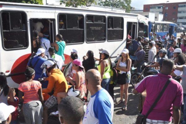 60% de la flota de transporte público está paralizada