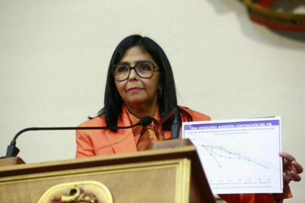 Delcy Rodríguez reiteró que el bolívar seguirá siendo la moneda nacional