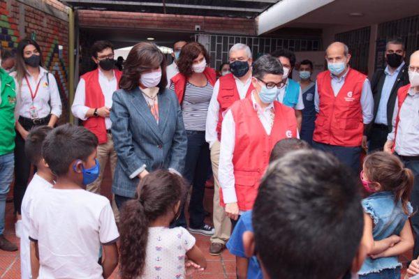 González Laya llega a Cúcuta para presenciar situación de migrantes venezolanos