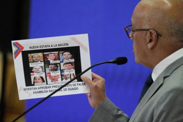 Jorge Rodríguez acusa otra vez a Guaidó: ahora denuncia «robo de US$53 millones»