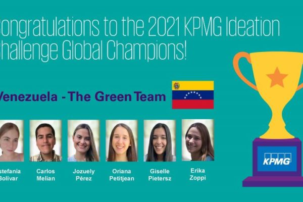Estudiantes venezolanos ganan competencia global de KPMG Ideation Challenge