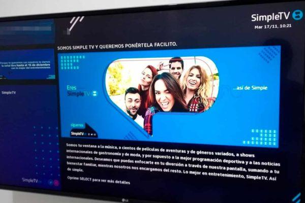 Plataforma de Simple TV estará en mantenimiento desde el #30Abr hasta el #1May