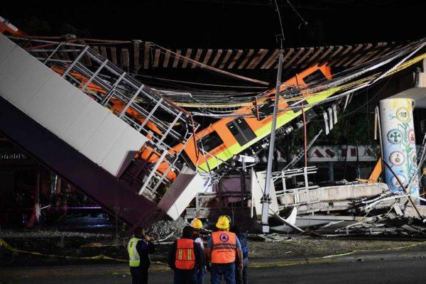 Al menos 23 fallecidos por colapso de elevado del metro de Ciudad de México