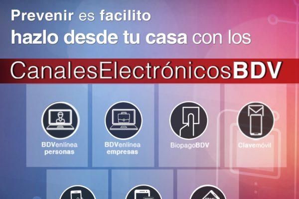 BDV impulsa sus canales electrónicos en esta semana de cuarentena radical