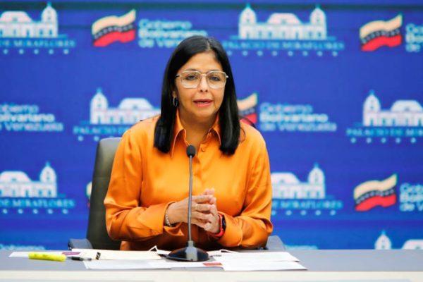Delcy Rodríguez: Ya se ha vacunado cerca de 11% de la población