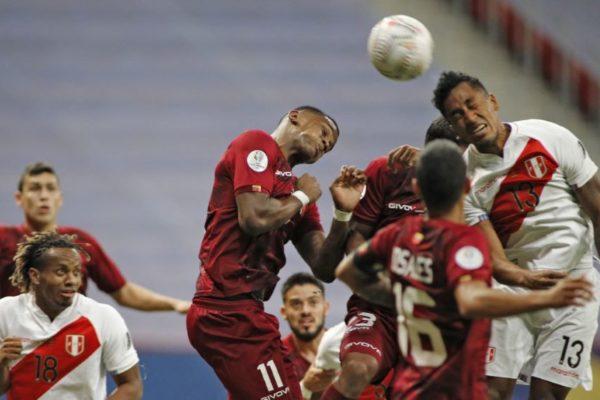 La Vinotinto llegó hasta donde pudo y salió de la Copa América derrotada por Perú
