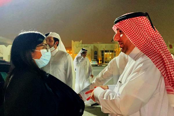 Delcy Rodríguez llegó a Qatar para fortalecer cooperación bilateral