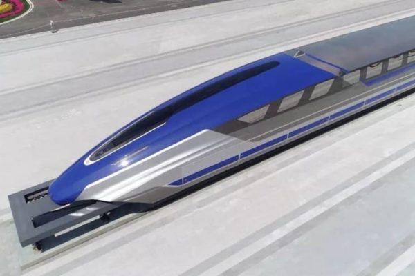 China presenta un nuevo tren de levitación magnética que alcanza 600 km/h