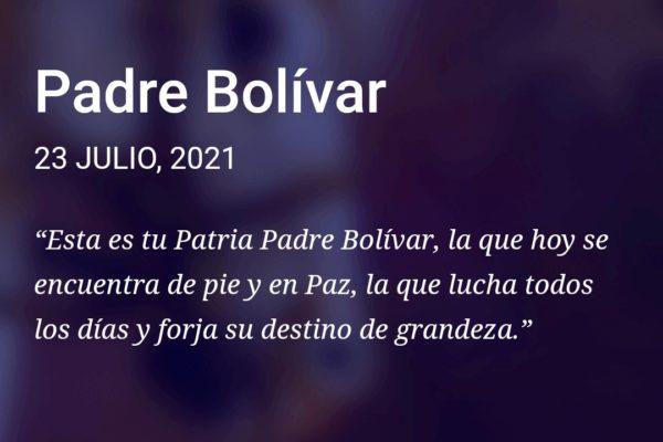 Este #23Jul inició asignación del bono Padre Bolívar a través del sistema Patria