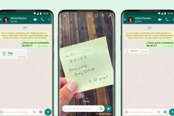 WhatsApp lanza actualización que permite que archivos se autoeliminen tras ser vistos