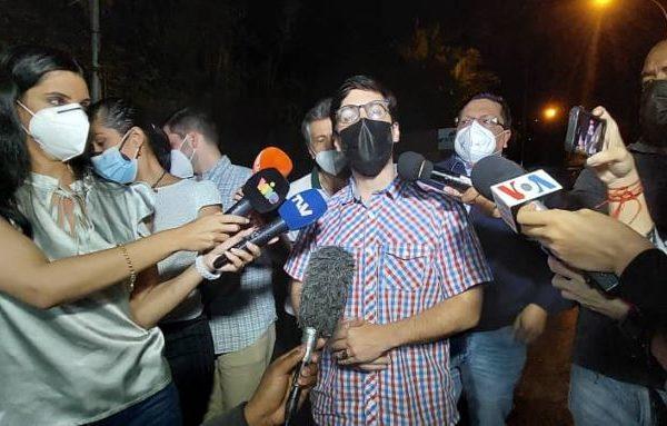 Freddy Guevara al ser excarcelado: