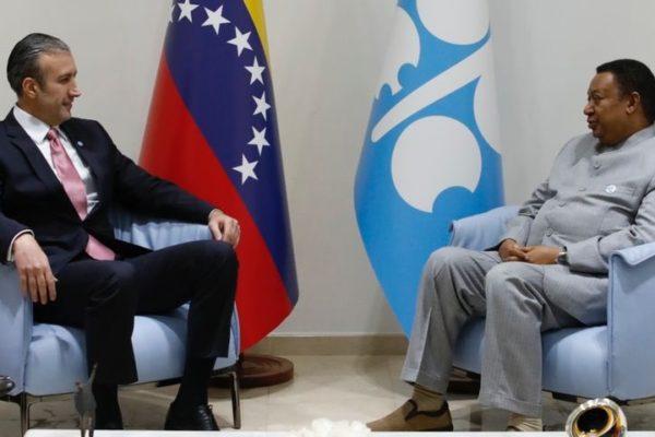 En reunión con el secretario general de la OPEP| El Aissami propuso consolidar una política petrolera integral