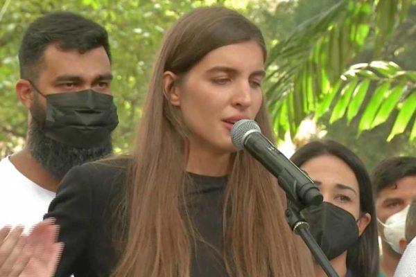 Camila Fabri Saab: Hace 500 días mi esposo iba rumbo hacia una misión humanitaria