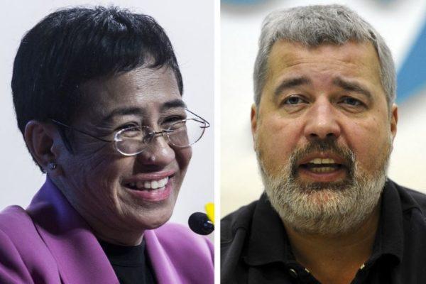 Primera vez en 120 años: Dos periodistas ganan Nobel de la Paz por defender la libertad de expresión